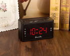 Large Display Dual Alarm Clock w/ AM/FM Radio Battery Backup Sleep Snooze Timer