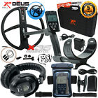 "XP Deus Metal Detector, Full Headphones, Case, Remote, 11"" Coil & Waterproof Kit"