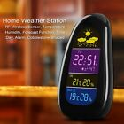 New Wireless Home Thermometer Hygrometer Weather Station Clock LCD Display