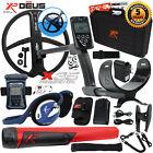 XP Deus Metal Detector w/ MI-6 Pinpointer, Backphones, Remote, X35 Coil & more