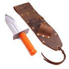 High Quality Brown Leather Sheath Left Side & Quest Diamond Right Digger Tool