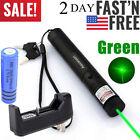 50Mile Powerful Green Laser Pointer Pen Visible Beam Teaching Lazer+Batt+Charger