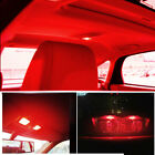 20X Red T10 5-SMD 5050 LED Interior License Plate Light bulbs W5W 2825 158 192