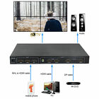 4K*2K,New 4 Channel HDMI DP MHL Video Processor 2x2 TV Projector Wall Controller