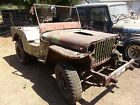 1942 Jeep 1942 Willys MB Military 1942 WILLYS MB SCRIPT ORIGINAL WWII MILITARY JEEP CALIF TITLE no engine/trans