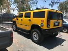 2003 Hummer H2 Yellow Yellow h2 hummer fully loaded