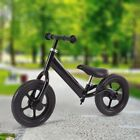 "12"" Durable Balance Train Bike Kids No-Pedal Learning Ride Bicycle Black/Pink US"