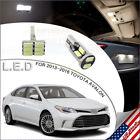 17pcs LED Interior Lights Package White for 2013-2016 Toyota Avalon