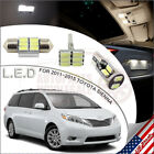 13pcs LED Interior Lights Package White for 2011-2015 Toyota Sienna
