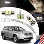 16pcs LED Interior Lights Package White for 2008-2013 Toyota Highlander