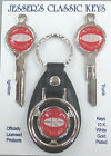 Red Buick RIVIERA B48-A Classic White Gold Deluxe Key Set  1967 1971 1975 1979