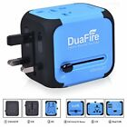 DuaFire Travel Adapter Universal Power Plug International Wall Charger with Dual
