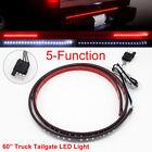 60 Inch Waterproof Flexible Rear Tailgate Brake Light Bar Strip Truck Jeep SUV