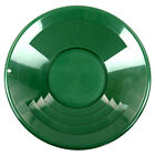 "14"" GREEN Plastic Gold Pan w/ Shallow & Deep Riffles for Gold Grospecting"
