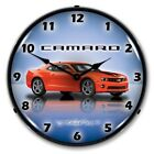 Retro Nostalgic Style Chevy SS G5 Orange Camaro Car Lighted Wall Clock New