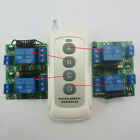 4 CH 433MHz RF Delay Time Wireless 1 pcs 4 buttons Remote control 4 pcs Receiver