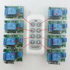 12V 433MHz RF Delay Time Wireless 1 pcs 8 buttons Remote control 8 pcs Receiver