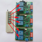433Hz Crystal Frequency 12V 6CH Wireless Remote Control Relay Switch 1 TX + 3 RX