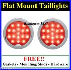 Flat Mount LED Taillights Turn Signal Running Brake Light Universal Hot Rod C39R