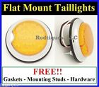 Flat Mount Amber LED Taillights Turn Signal Running Parking Lights C39A - 1