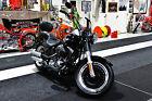 2013 Harley-Davidson Softail  FATBOY LO SOFTAIL, VIVID BLACK PAINT, DENIM BLACK FRAME, BULLET HOLE WHEELS