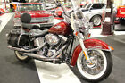 2009 Harley-Davidson HERITAGE SOFTAIL CLASSIC FLSTC REDHOT SUN GLO  FLSTC HERITAGE SOFTAIL CLASSIC RED HOT SUNGLO LOW MILES WHITE WALLS WIRE WHEELS