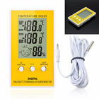 Outdoor Indoor Digital LCD Humidity Thermometer Hygrometer Meter Probe Cable C/F