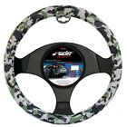 STEERING COVER RED SEAM SIMONI RACING ECO LEATHER CAMOUFLAGE WHITE