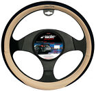 STEERING COVER CLASSIC SIMONI RACING ECO LEATHER BEIGE AND BLACK