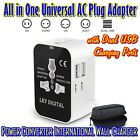 Worldwide All in One Universal AC Plug Adapter Power Converter + Dual USB Charge