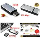 Usb Small Voice Activated Digital Spy Recorder Dictaphone 8Gb Recording Device