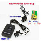 F908 FM Wireless Transmitter Receiver Covert Audio Listening Device Ear Bug Spy