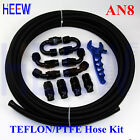 AN8 08 8AN TEFLON FUEL LINE E85 PTFE OIL HOSE FITTING END Adapter+Wrench Spanner