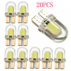 20pc Brand T10 194 168 W5W COB LED Car License Plate Dome Map Light Bulb White X