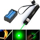 Military Powerful Beam 20Mile 5mw 532nm Green Laser Pointer Pen+Battery+Charger