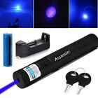 405nm 5mW High Power Blue Purple Laser Pointer Pen Visible Beam+Battery+Charger
