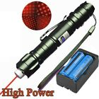 Military Powerful Red Laser Pointer Pen 10Miles 5mw 650nm Pet Toy+Batt+ Charger