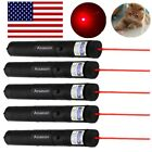 Military 5PC 20 Miles 650nm Red Laser Pointer Pen Visible Beam Cat Toy Lazer Pen