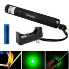 Burning Green Laser Pointer Pen 5mw 532nm Military Teaching+Battery+Charger USA