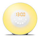 Clock With Night Light Sunrise Simulator Alarm,7 Colors Light