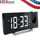 Projection Digital Time Snooze Alarm Clock FM Radio Clock LCD Display Projector