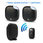 1Byone Portable Wireless Visitor Doorbell Chime 36 Tunes 3 Receivers Waterproof