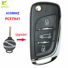 3B Upgraded Flip Remote Key 433MHz PCF7941 for Benz 2007-2013 Smart Fortwo 451