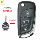 Upgraded Flip Remote Key 3B 315MHz PCF7941 for Benz 2007-2013 Smart Fortwo 451