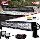 """John Deere Husqvarna Case IH UTV Roof 30"""" 32"""" LED Light Bar Combo + Wiring Kit"""