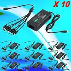 LOT 10X 12V 5A Power Supply Adapter +8 Split Power Cable CCTV Security Camera HX