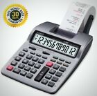Printing Calculator 12 Character Power Adapter Battery Powered Heavy Duty New