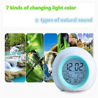 Alarm Clock LED Wake Up Light Digital Clock with Temperature Display & Sound