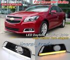1000 Pair 2x LED Daytime Day Fog Lights DRL Run lamp For Malibu w Steering Light