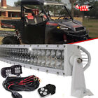"52"" Curved LED Light Bar + 2x Free 4"" Pods For 2017 Polaris Ranger Crew 570-4"
